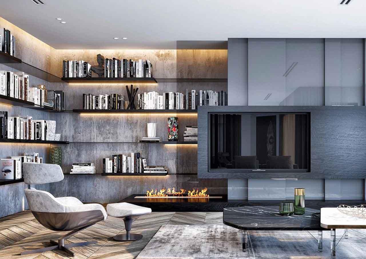 """电视墙已经out了!""""隐形""""才是最时尚的客厅设计!"""